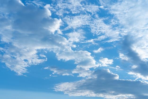 Błękitne niebo z wieloma chmurami
