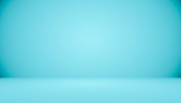 Błękitnego gradientowego abstrakcjonistycznego tła pusty pokój z przestrzenią dla twój teksta i obrazka.
