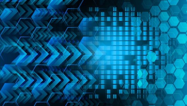 Błękitny cyber obwodu technologii pojęcia przyszłościowy tło