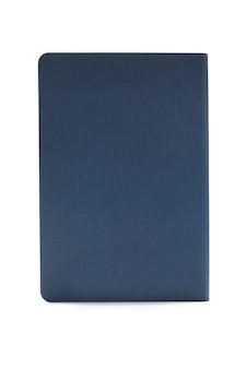 Błękitny dzienniczek odizolowywający na białym tle