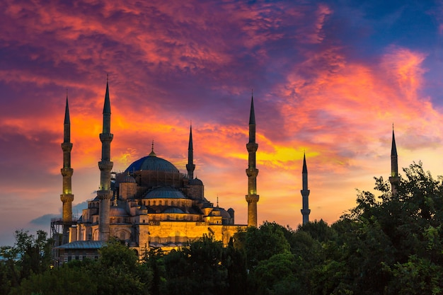 Błękitny meczet w stambule w turcji