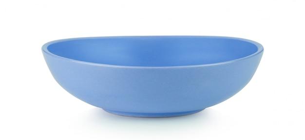 Błękitny puchar na białym tle