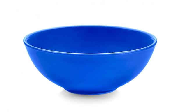 Błękitny puchar na biel przestrzeni
