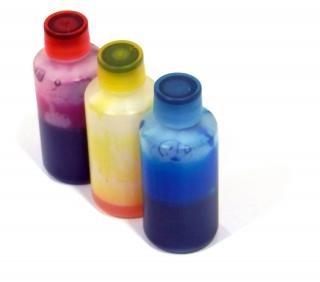 Błękitny, purpurowy i żółty, do drukarek atramentowych