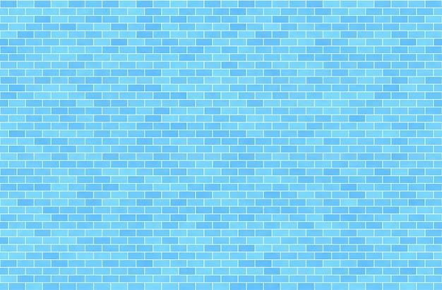 Błękitny ściana z cegieł, abstrakcjonistyczny bezszwowy tło