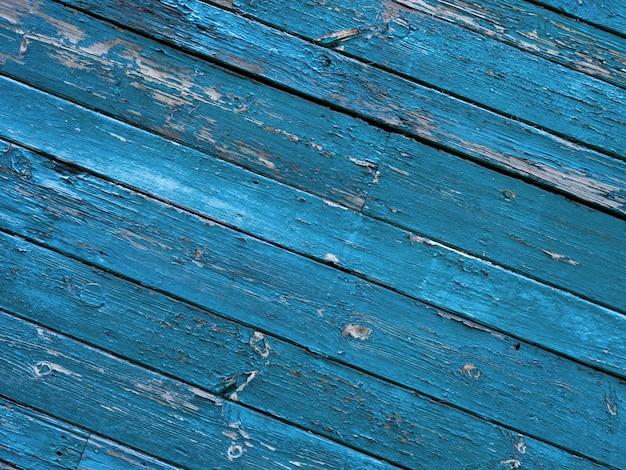 Błękitny stary drewniany ścienny tło