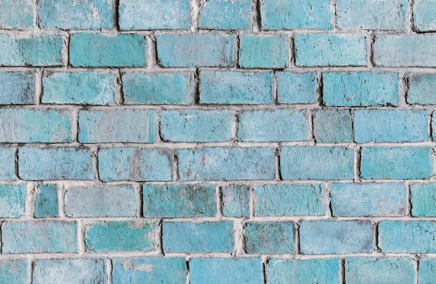 Błękitny textured ściana z cegieł tło
