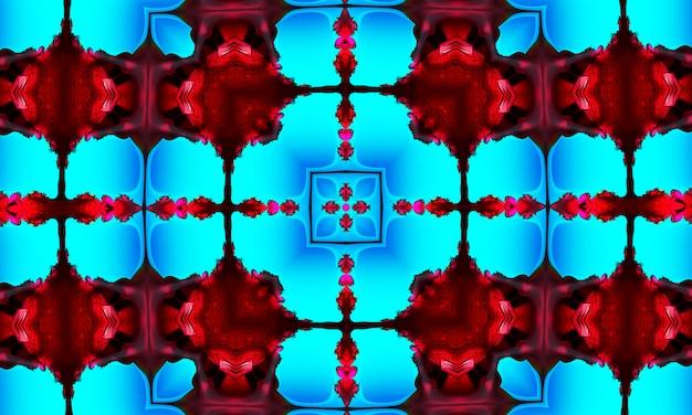 Błękitny wzór z krzyżem. fioletowy kalejdoskop.