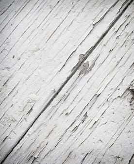 Bliska biała tekstura malowane drewniane deski.