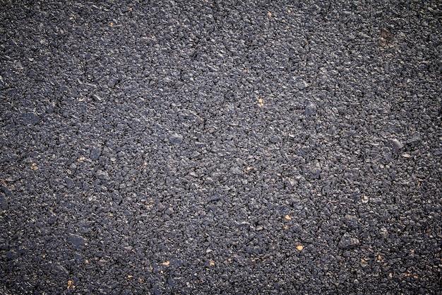 Bliska nowej tekstury drogi asfaltowej