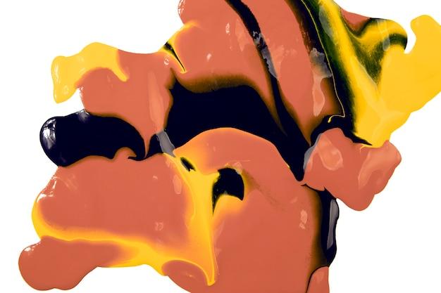 Bliska plama farby mieszanej