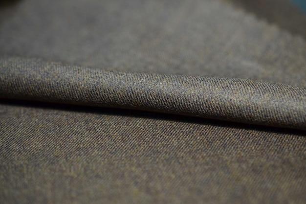 Bliska roli brązowy tkanina garnitur, photoshoot przez głębia ostrości dla obiektu