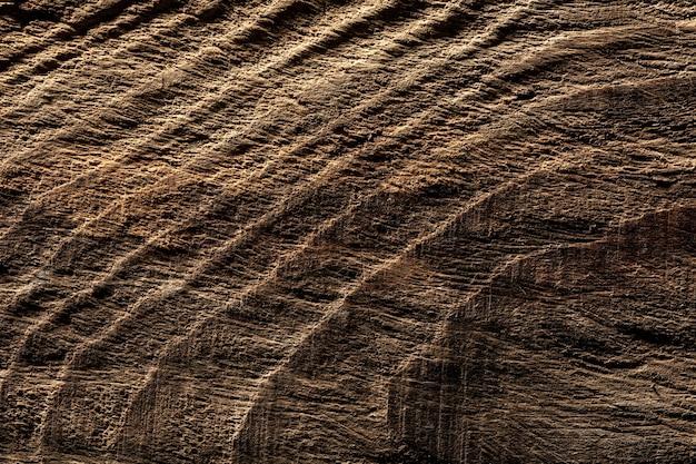 Bliska strzał brudnej drewnianej powierzchni