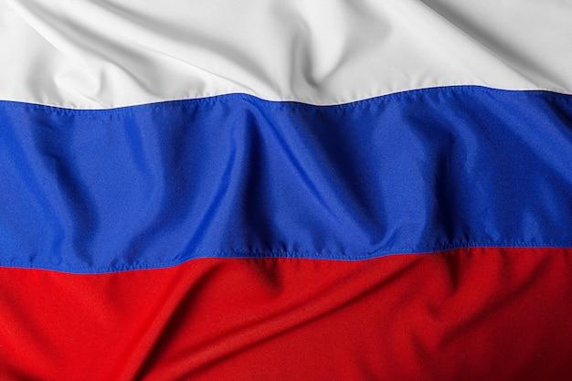 Bliska strzał falisty flaga rosji