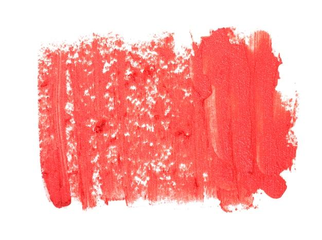 Bliska tekstury czerwonej szminki