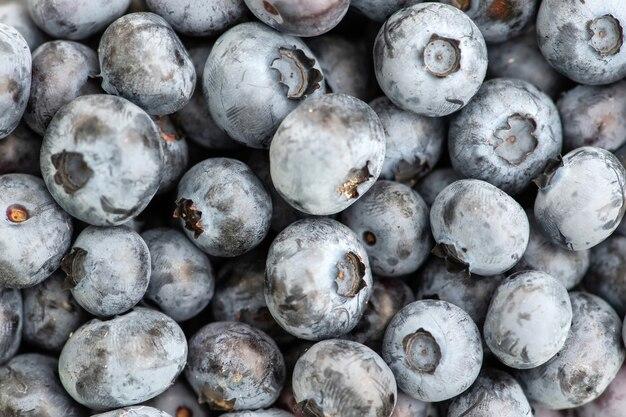 Bliska tekstury tła świeżych organicznych jagód