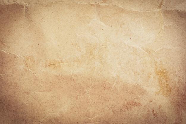 Bliska zmięty stary brązowy papier tekstury