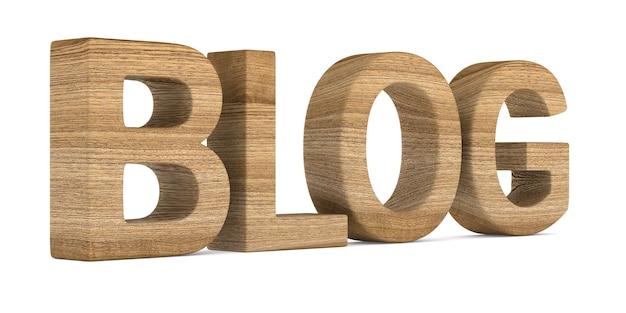 Blog na białej przestrzeni. ilustracja na białym tle 3d