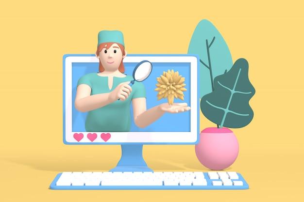 Bloger postaci kanał medycyny i nauki