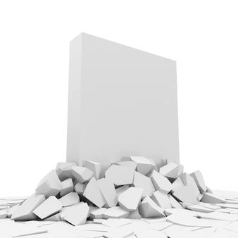 Blok betonowy przebijający się z podłogi