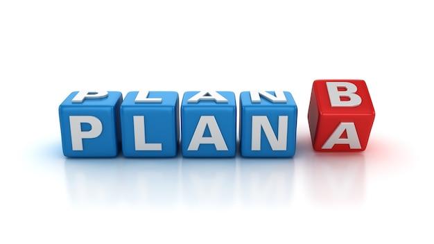 Bloki kafelków zmiana słów z planu a na plan b.