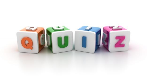 Bloki kafelkowe ze słowem quiz