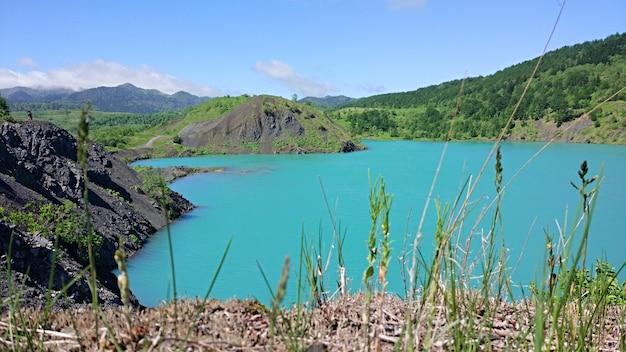 Blue lake na terenie dawnego kamieniołomu