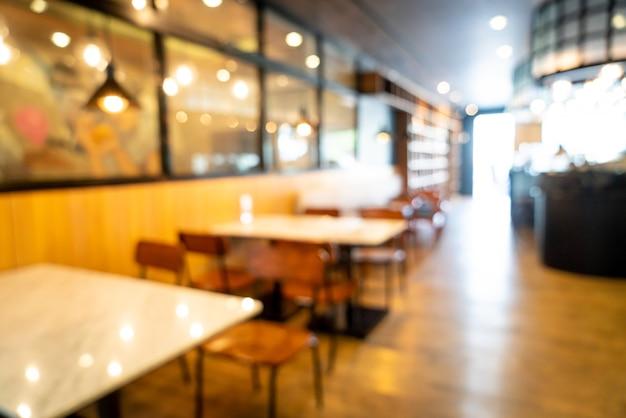 Blur cafe restaurant