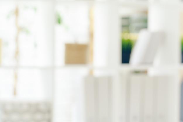 Blured miękkie białe biuro