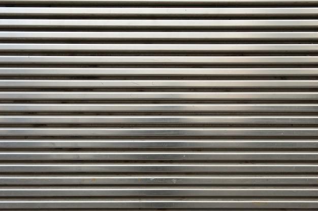 Błyszcząca metalowa ściana grilla
