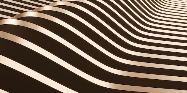 Błyszcząca powierzchnia wstążki trzepoczące tło do dekoracji 3d ilustracji