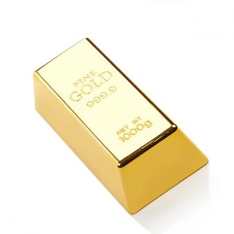 Błyszcząca sztabka złota