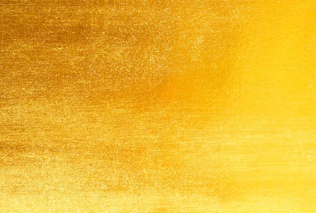 Błyszcząca złota folia z żółtego liścia