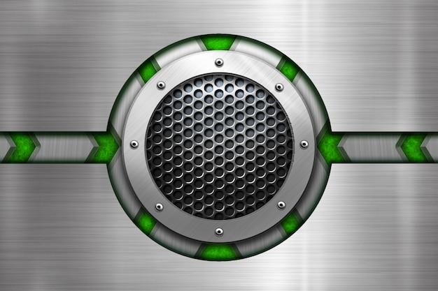 Błyszczące koło metal tło dla szablonu