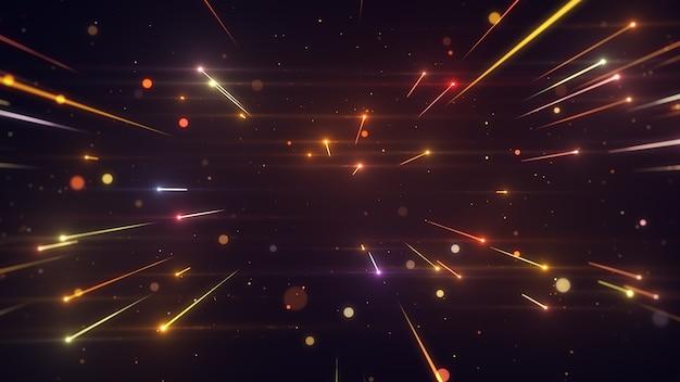 Błyszczące linie światła nagradzają eleganckie tło