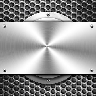 Błyszczące metalowe tło dla szablonu
