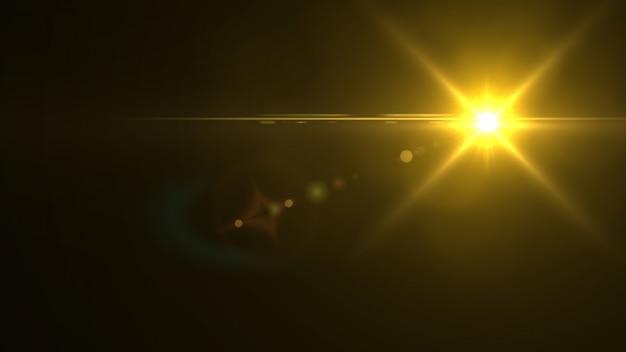 Błyszczące światło w ciemności