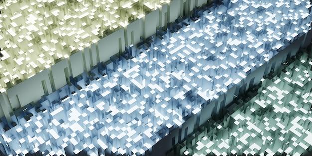 Błyszczące tło odblaskowe nowoczesna koncepcja elegancka ilustracja 3d