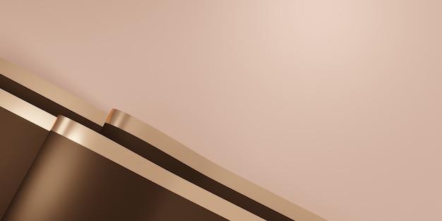 Błyszczące tło wstążki trzepotanie do dekoracji ilustracji 3d