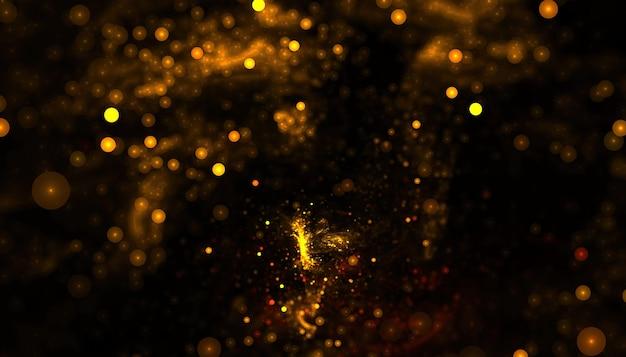 Błyszczące złote cząsteczki piękne tło