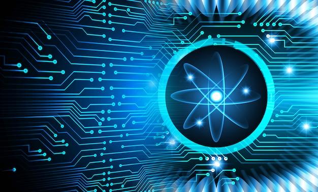 Błyszczący schemat atomu