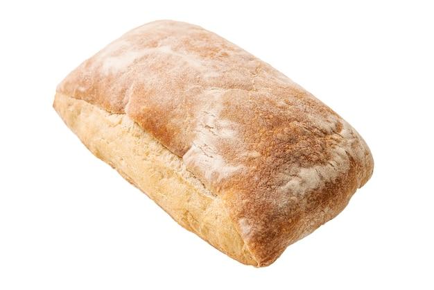 Bochenek chleba ciabata na białym tle