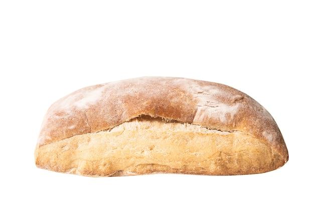Bochenek Chleba Ciabata Na Białym Tle Premium Zdjęcia