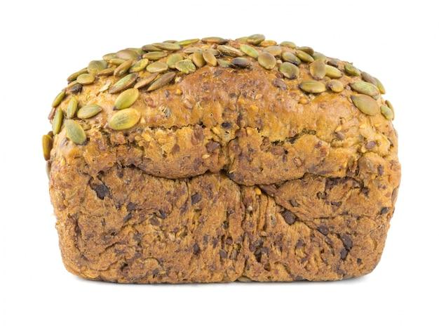 Bochenek chleba z mąki pszennej ze słonecznikiem, dynią, kminkiem, zbożami i sezamem