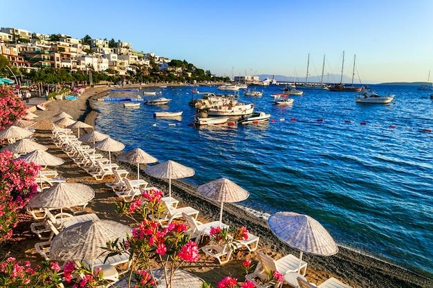 Bodrum turcja letnie wakacje wspaniałe plaże starego miasta