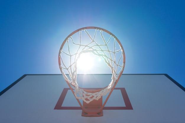 Boisko do koszykówki w parku w nowym mieście tajpej