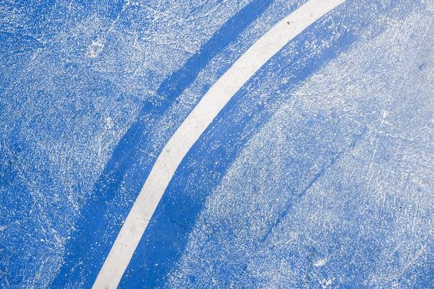 Boisko do koszykówki w tle, podłoga koszykówki z zaznaczonymi liniami