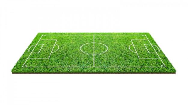 Boisko do piłki nożnej na białym tle.