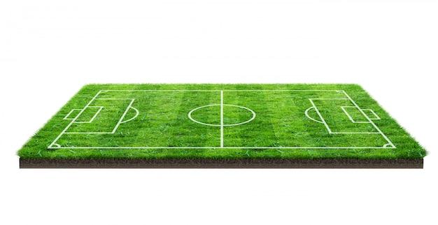 Boisko piłkarskie lub boisko do piłki nożnej na zielonej trawie