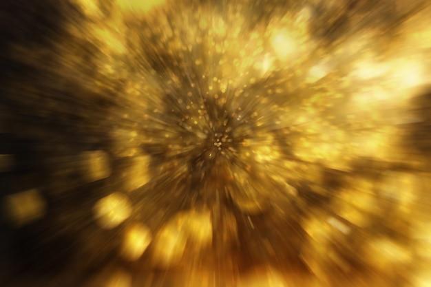 Bokeh streszczenie tło z diamentowego pyłu. rozmycie ruchu